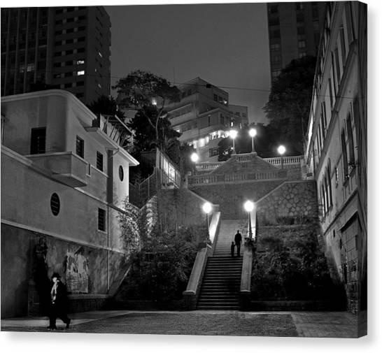 Street Scenes Canvas Print - Bexiga Poetry by Carlos Alkmin