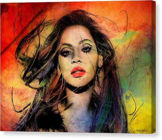 Hollywood Canvas Print - Beyonce by Mark Ashkenazi