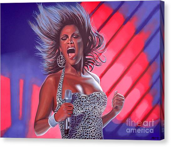 Crazy Canvas Print - Beyonce by Paul Meijering