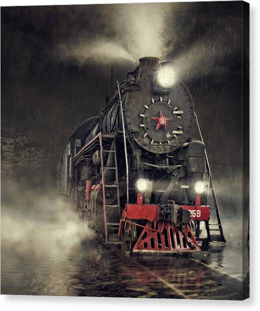 Railroads Canvas Print - Beyond Express by Dmitry Laudin