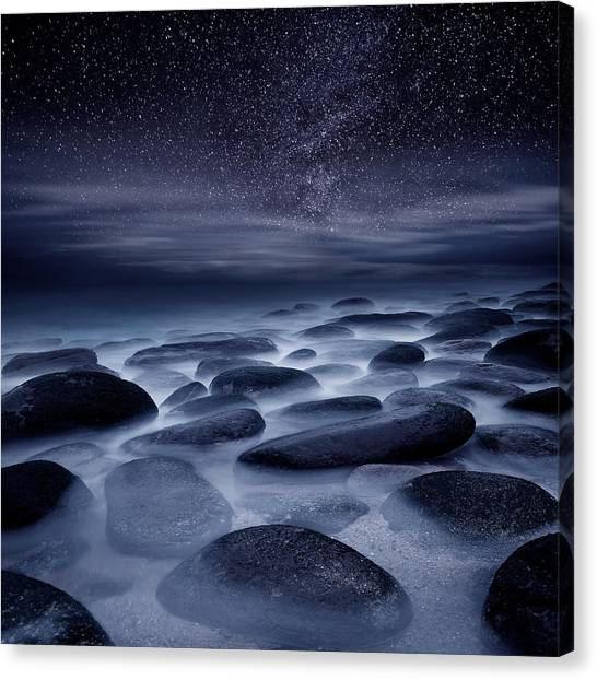 Night Canvas Print - Beyond Our Imagination by Jorge Maia