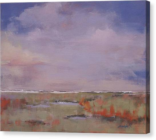Big Sky Canvas Print - Beyond The Marsh by Laura Lee Zanghetti