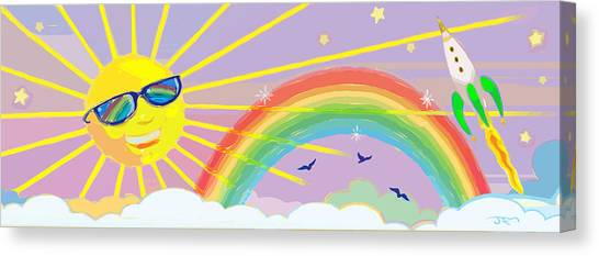 Beyond The Rainbow Canvas Print