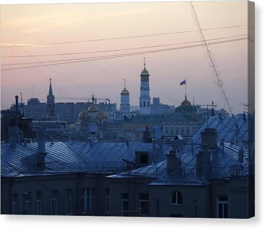 Moscow Skyline Canvas Print - Beyond The Rooftops by Anna Yurasovsky
