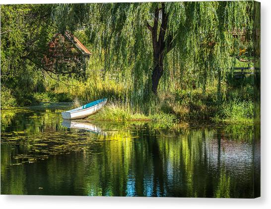 Beyond The Willow Canvas Print