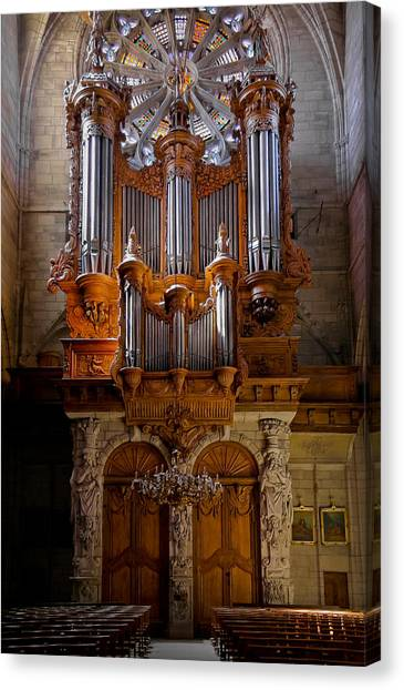 Beziers Pipe Organ Canvas Print