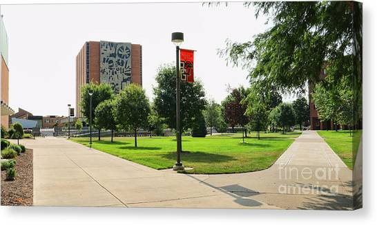 Bowling Green State University Bgsu Canvas Print - Bgsu Jerome Library 3274 by Jack Schultz