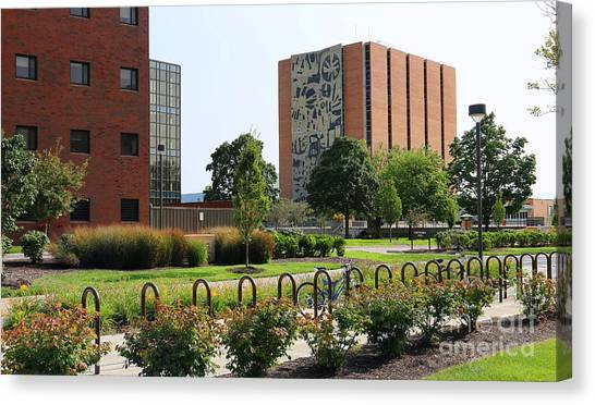 Bowling Green State University Bgsu Canvas Print - Bgsu Jerome Library 3280 by Jack Schultz