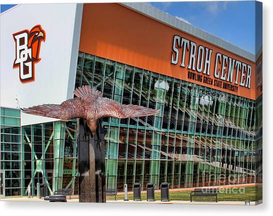 Bowling Green State University Bgsu Canvas Print - Bgsu Stroh Center 9565 2 by Jack Schultz