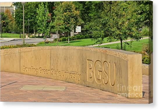 Bowling Green State University Bgsu Canvas Print - Bgsu Wall 3246 by Jack Schultz