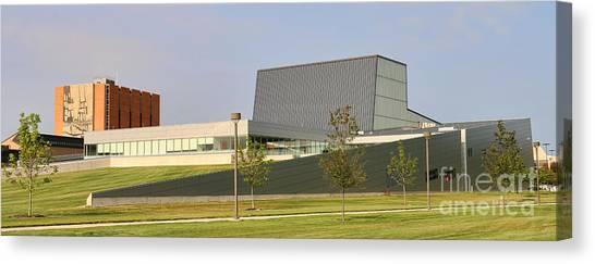 Bowling Green State University Bgsu Canvas Print - Bgsu Wolfe Center And Jerome Library 3262 by Jack Schultz