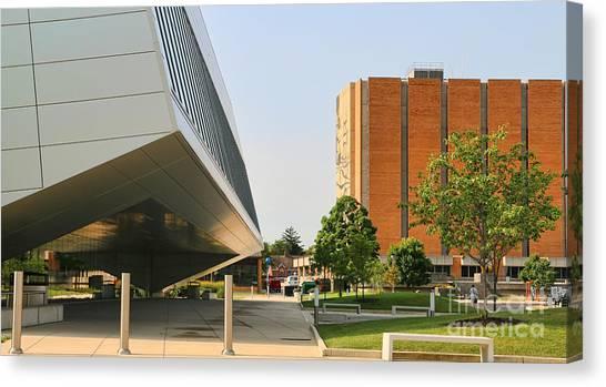 Bowling Green State University Bgsu Canvas Print - Bgsu Wolfe Center And Jerome Library 3270 by Jack Schultz