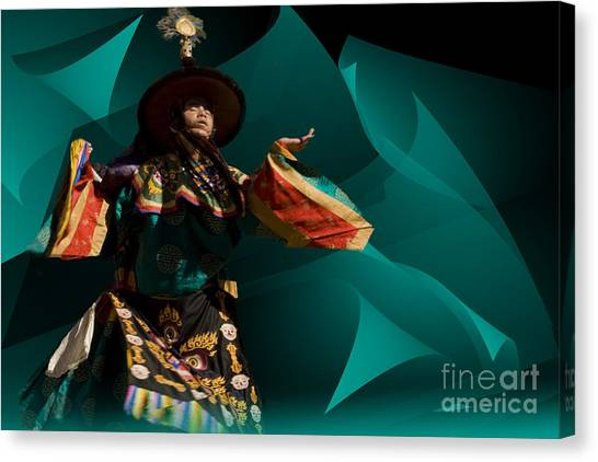 Bhutanese Festival Canvas Print