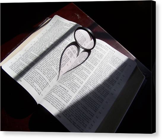 Bible Heart Canvas Print by Donnell Carr