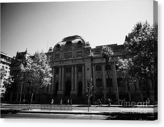 biblioteca nacional de chile national library Santiago Chile Canvas Print by Joe Fox