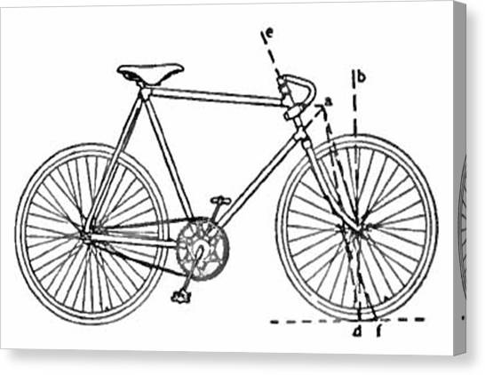 Repairs Canvas Print - Bicycle Blueprint by Adam Shaw