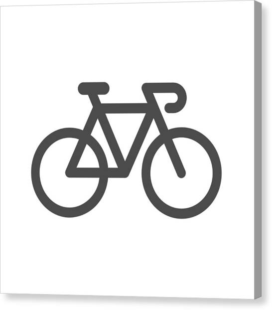 Bicycle Icon Canvas Print by Rakdee