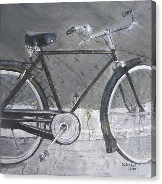 Bicycle In Rome Canvas Print