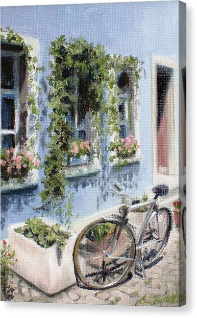 Bicycle In Zurich Canvas Print