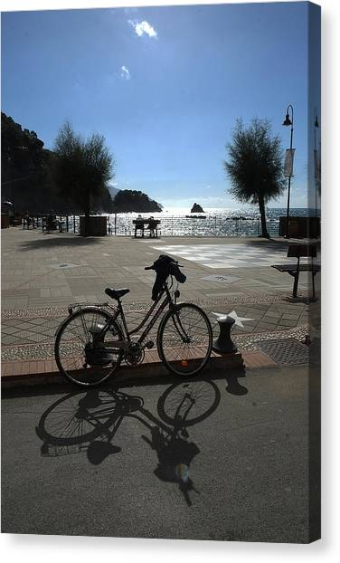 Bicycle Monterosso Italy Canvas Print