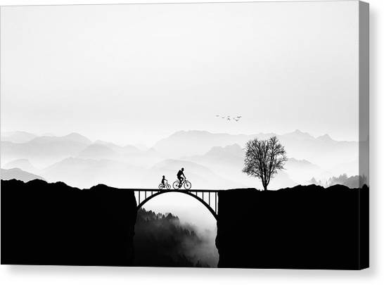 Bicycle Ride Canvas Print by Bess Hamiti