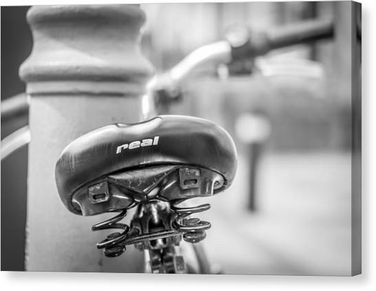Canvas Print featuring the photograph Bicycle Seat.  by Gary Gillette