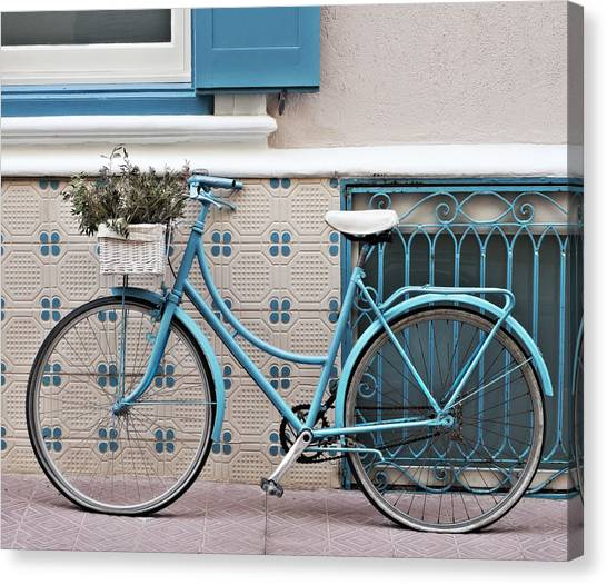 Vintage Bicycle Photography - Bicycles Are Not Only For Summer Canvas Print