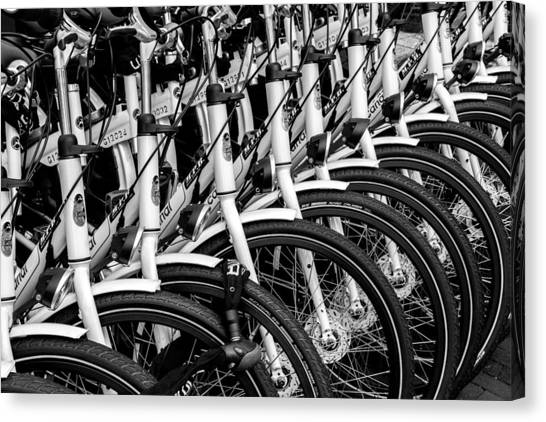 Bicycles Bicycles Bicycles Canvas Print
