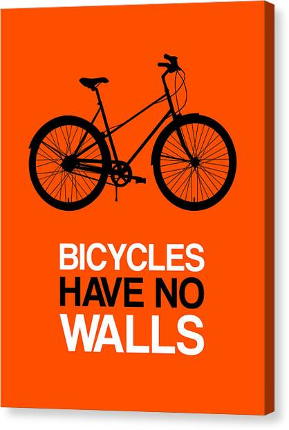 Hips Canvas Print - Bicycles Have No Walls Poster 1 by Naxart Studio