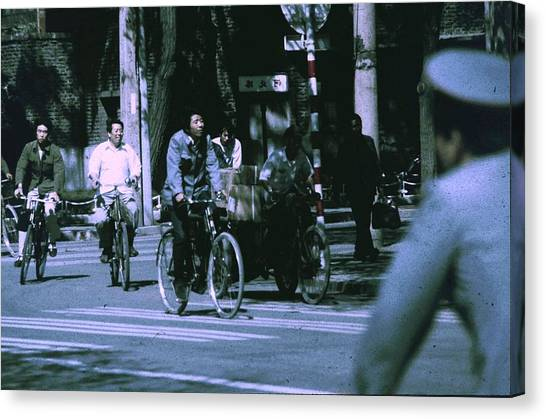 Bicycles In Beijing Canvas Print