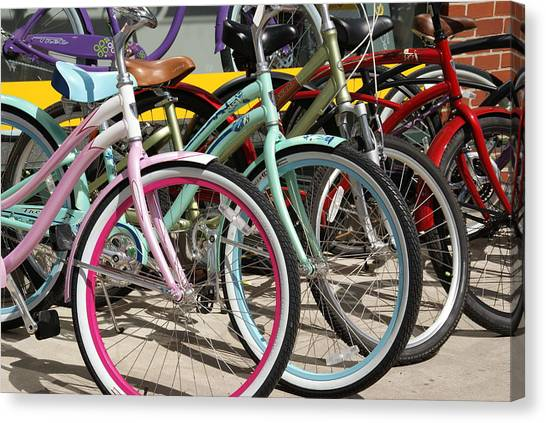 Bicycles Canvas Print by Thomas Fouch