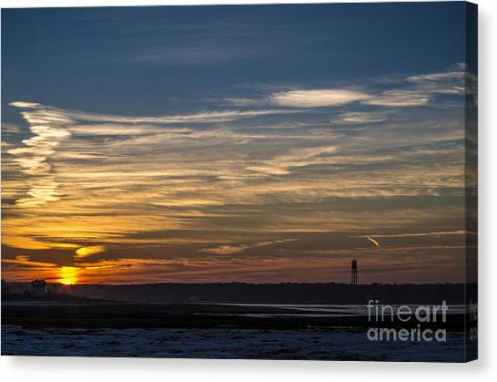 Biddeford Pool Maine Sunset Canvas Print