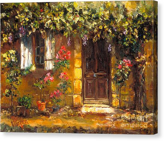 Bienvenue A' Provence Canvas Print