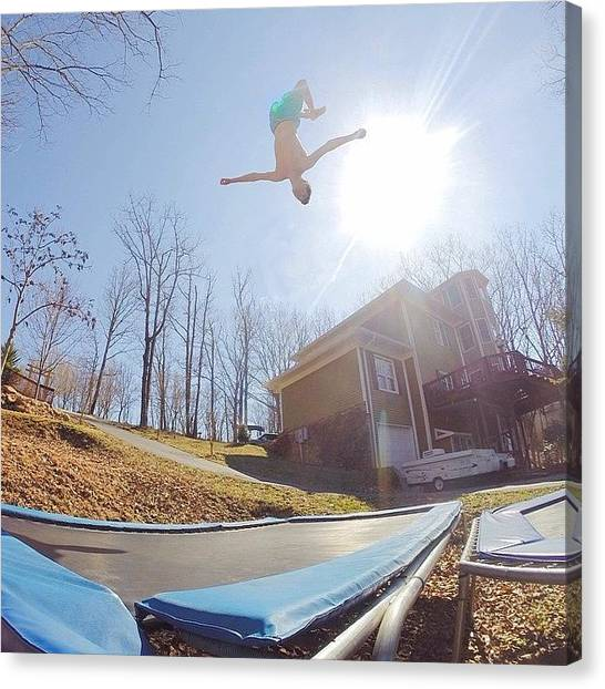 Trampoline Canvas Print - Big Air  by Eric Decker
