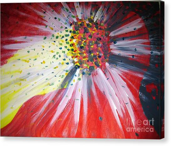 Canvas Print featuring the painting Big Bang by Ilona Svetluska