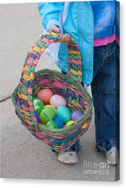Easter Baskets Canvas Print - Big Basket by Ann Horn