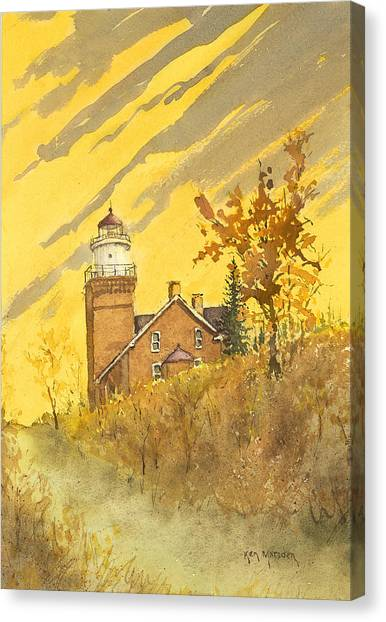 Big Bay Lighthouse Canvas Print