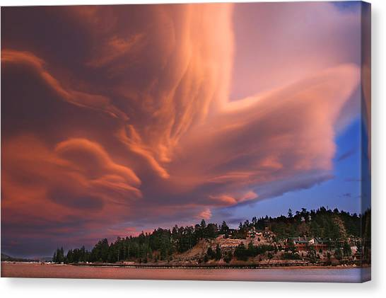 Big Bear Lake Storm Canvas Print