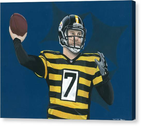 Ben Roethlisberger Canvas Print - Big Ben 503/522 by Brian Blocher