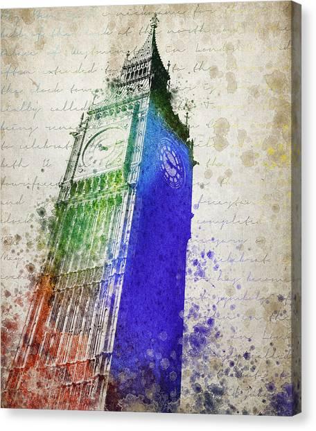 London Landmarks Canvas Print - Big Ben by Aged Pixel