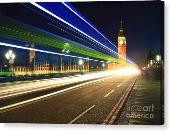 Big Ben And A Bus Canvas Print