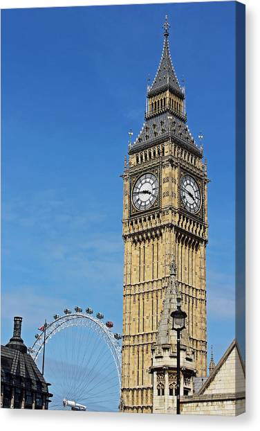 Big Ben And London Eye Canvas Print