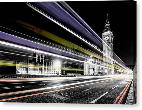 Parliament Canvas Print - Big Ben And Westminster by Ian Hufton