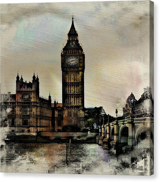 Parliament Canvas Print - Big Ben by Angel Eowyn
