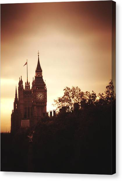 Big Ben In Sepia Canvas Print