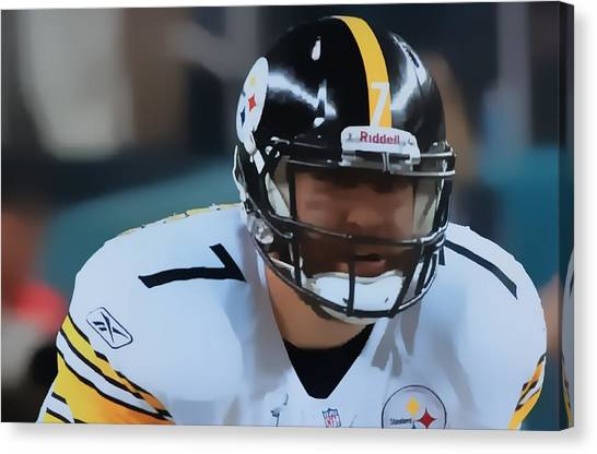 Ben Roethlisberger Canvas Print - Big Ben by John Delong