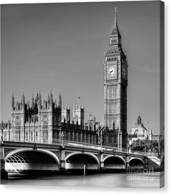 Parliament Canvas Print - Big Ben by John Farnan