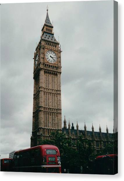 Parliament Canvas Print - Big Ben London England by Lisa Travis