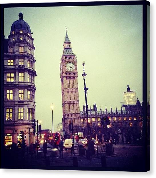 Parliament Canvas Print - Big Ben London by Lizzie Gibson