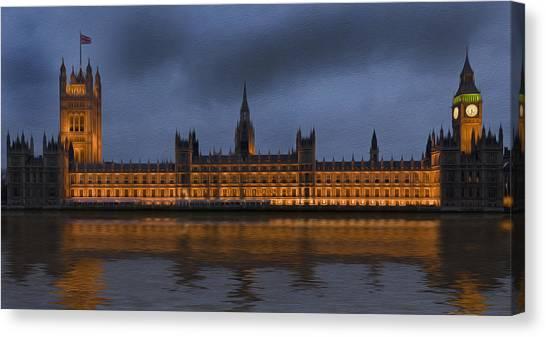 Kate Middleton Canvas Print - Big Ben Parliament London Digital Painting by Matthew Gibson